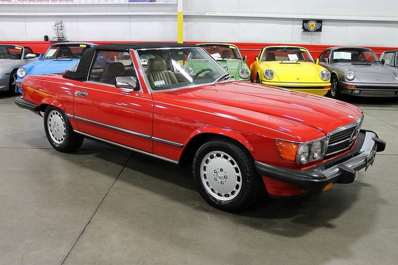 Find used 1989 mercedes 560sl both tops only 16k miles for Mercedes benz for sale in grand rapids mi