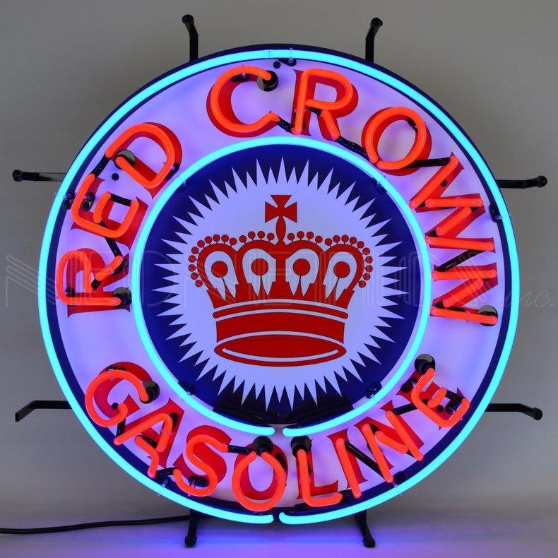 Red Crown Gasoline Neon