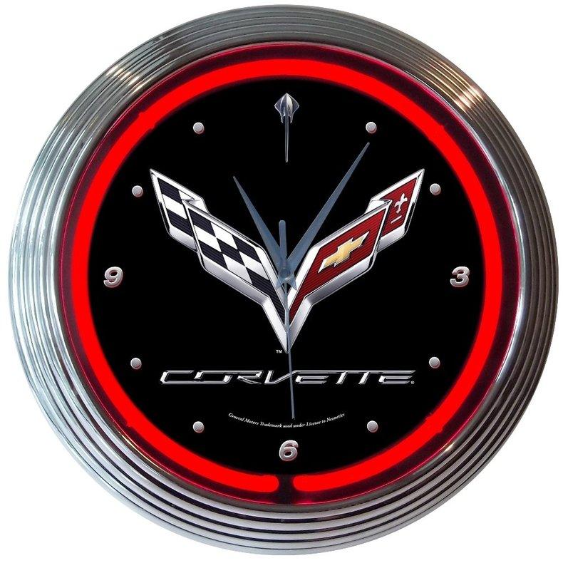 C7 Corvette Neon Clock
