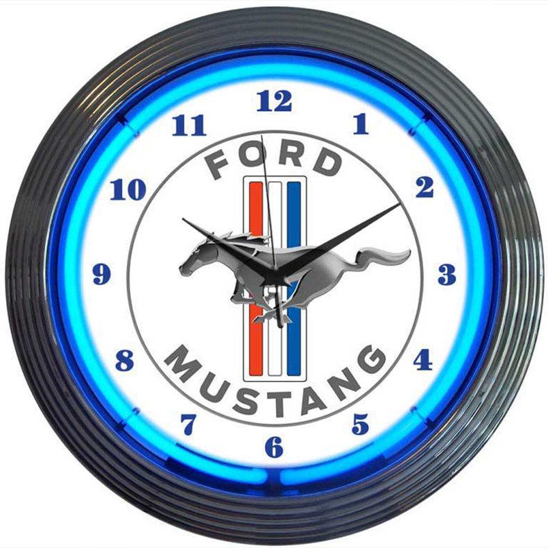 Mustang Neon Clock