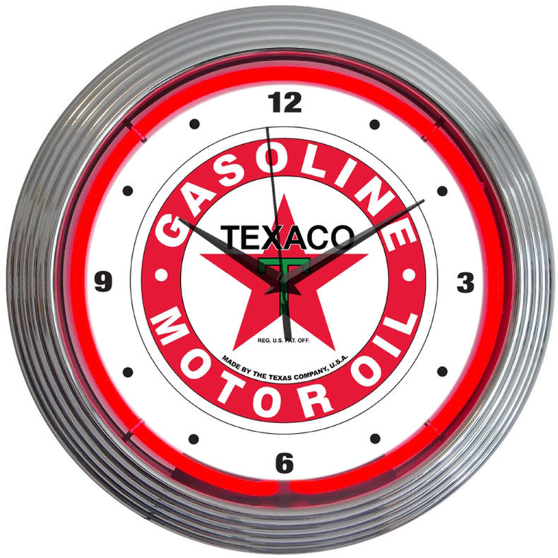 Texaco Oil Neon Clock