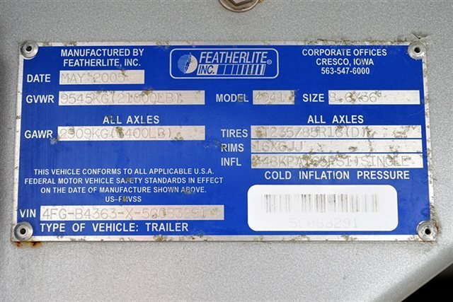 2005 2005 Featherlite 4941 For Sale