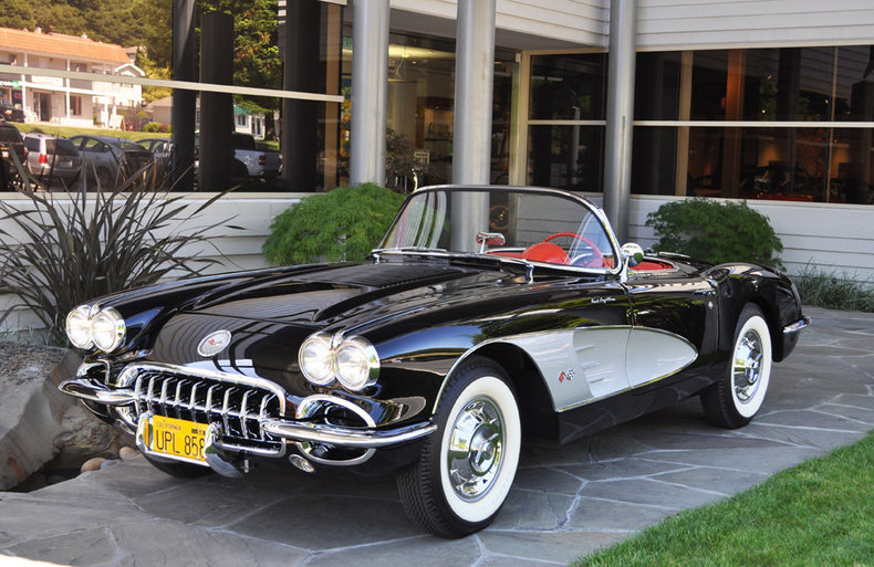 1958 Chevrolet Corvette Black/Silver_4264V