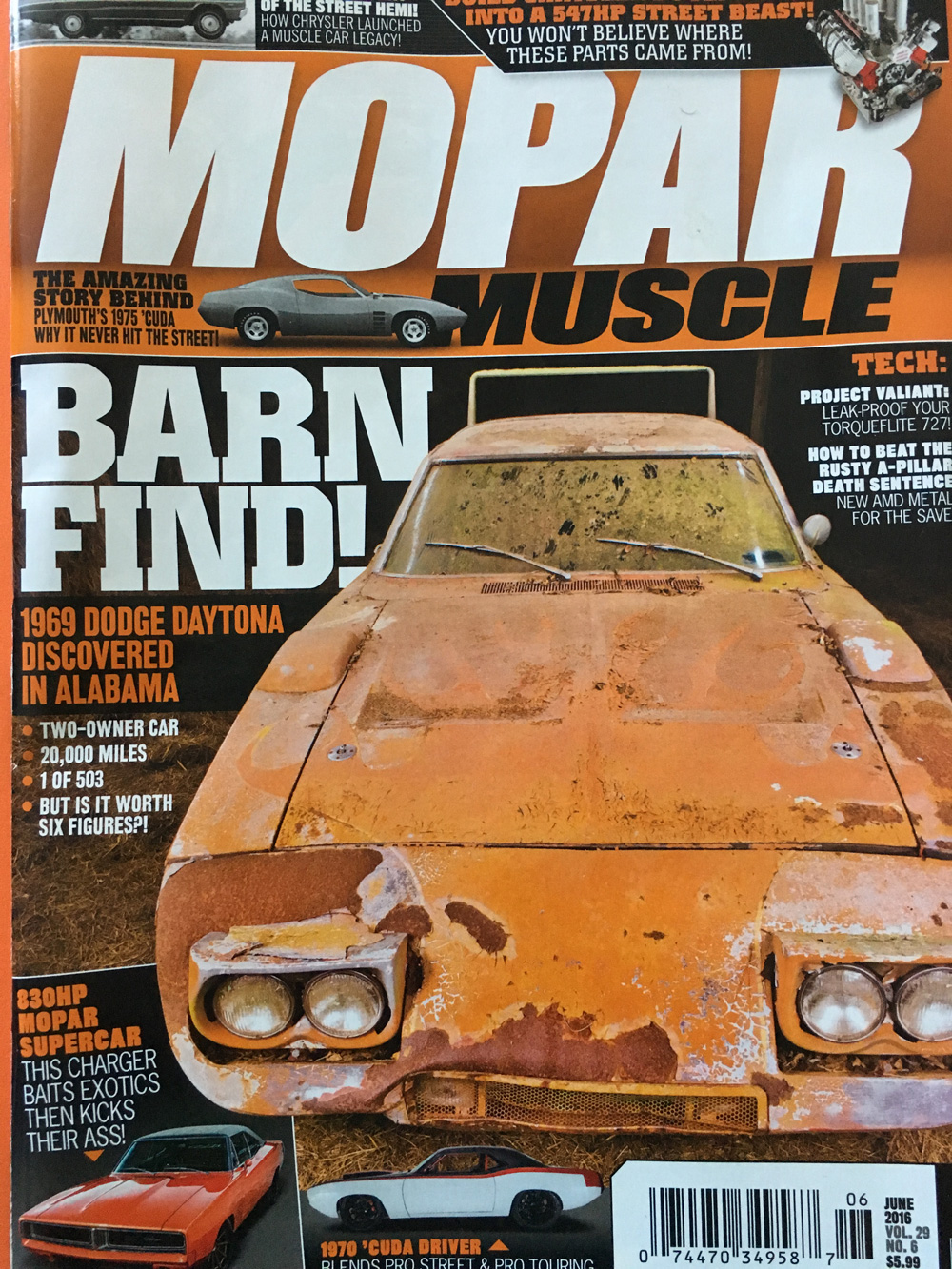 1969 Dodge Daytona Discovered in Alabama | Charlie\'s Classic Cars