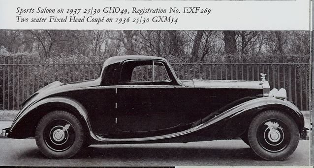1936 1936 Rolls-Royce 25/30 For Sale