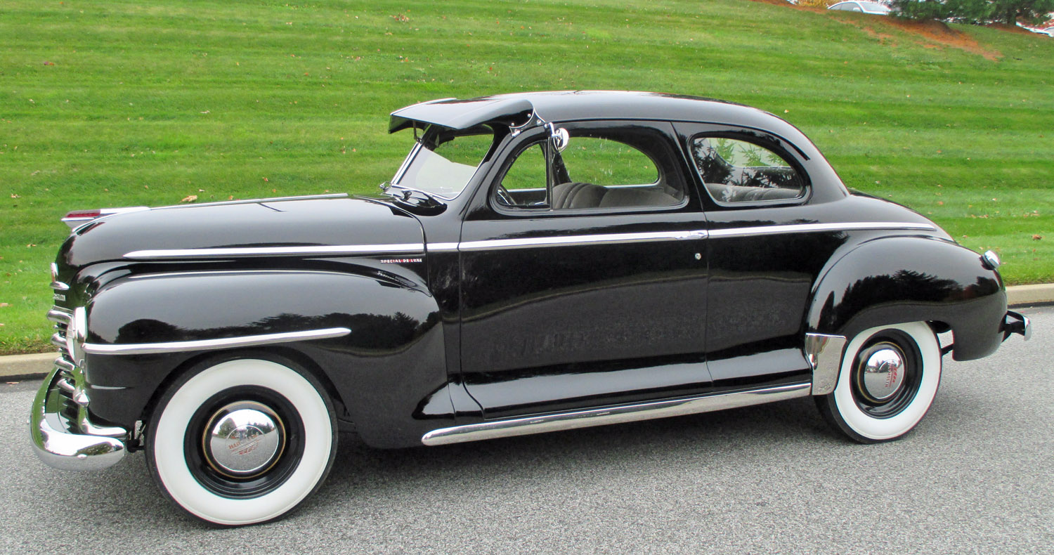 1947 plymouth deluxe connors motorcar company for 1947 plymouth 2 door coupe