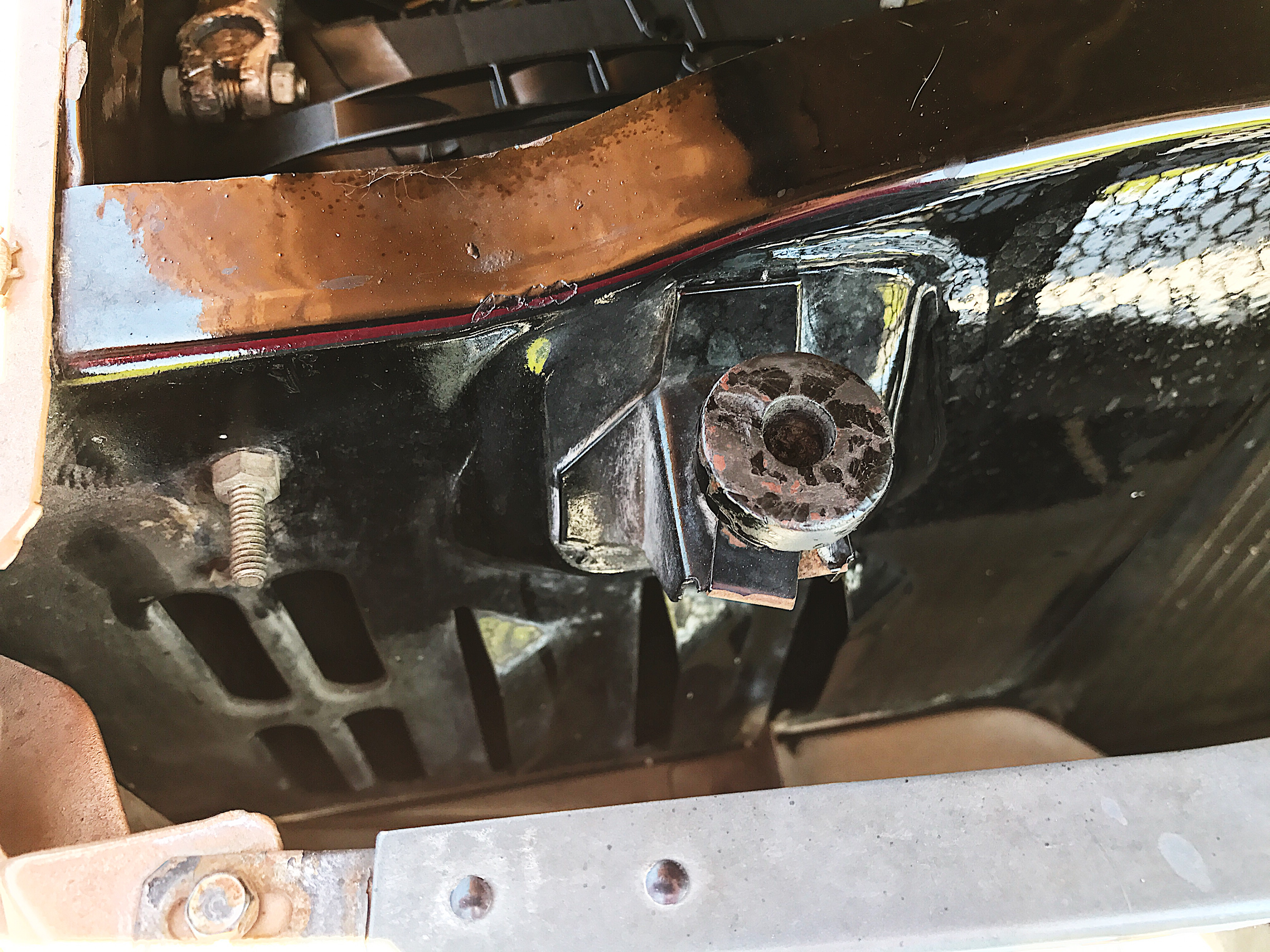 Battery vents on 1964½ Mustang