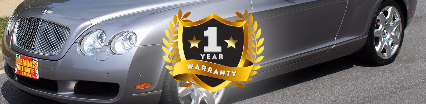 1 Year Warranty on all Classic Cars from Fleming's Ultimate Garage - Bottom of a Bently Car