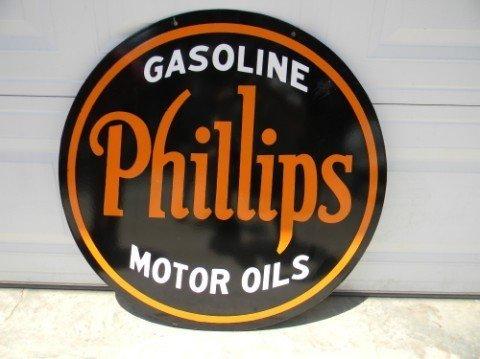 Phillips Gasoline Motor Oils Sign Gaa Classic Cars