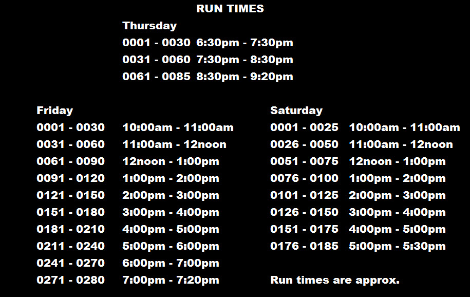 Run Times