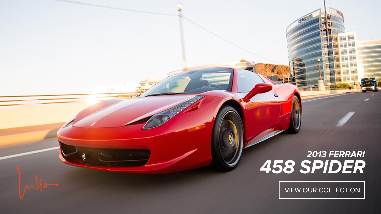 Lusso - 2013 Ferrari 458 Spider