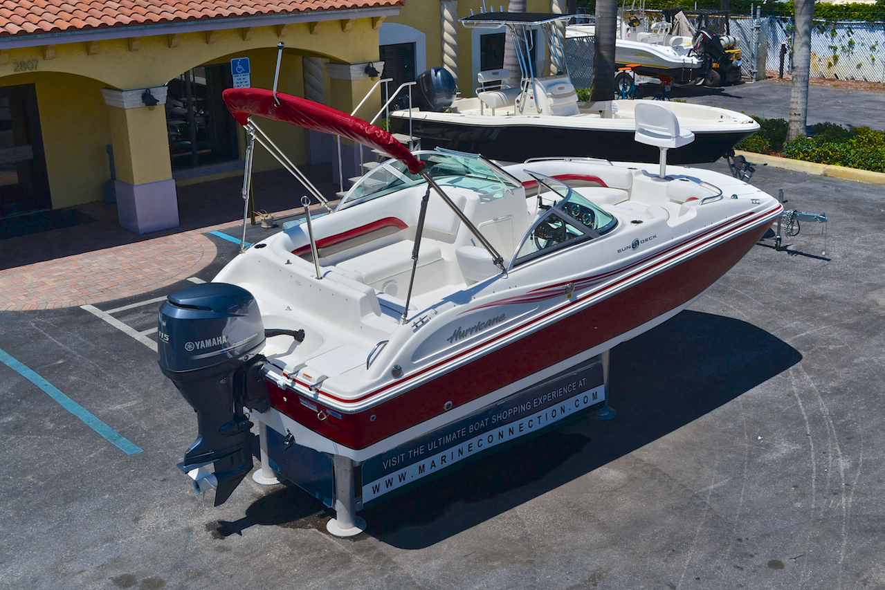 Used 2012 hurricane sundeck sd 187 ob boat for sale in for Hurricane sundeck for sale