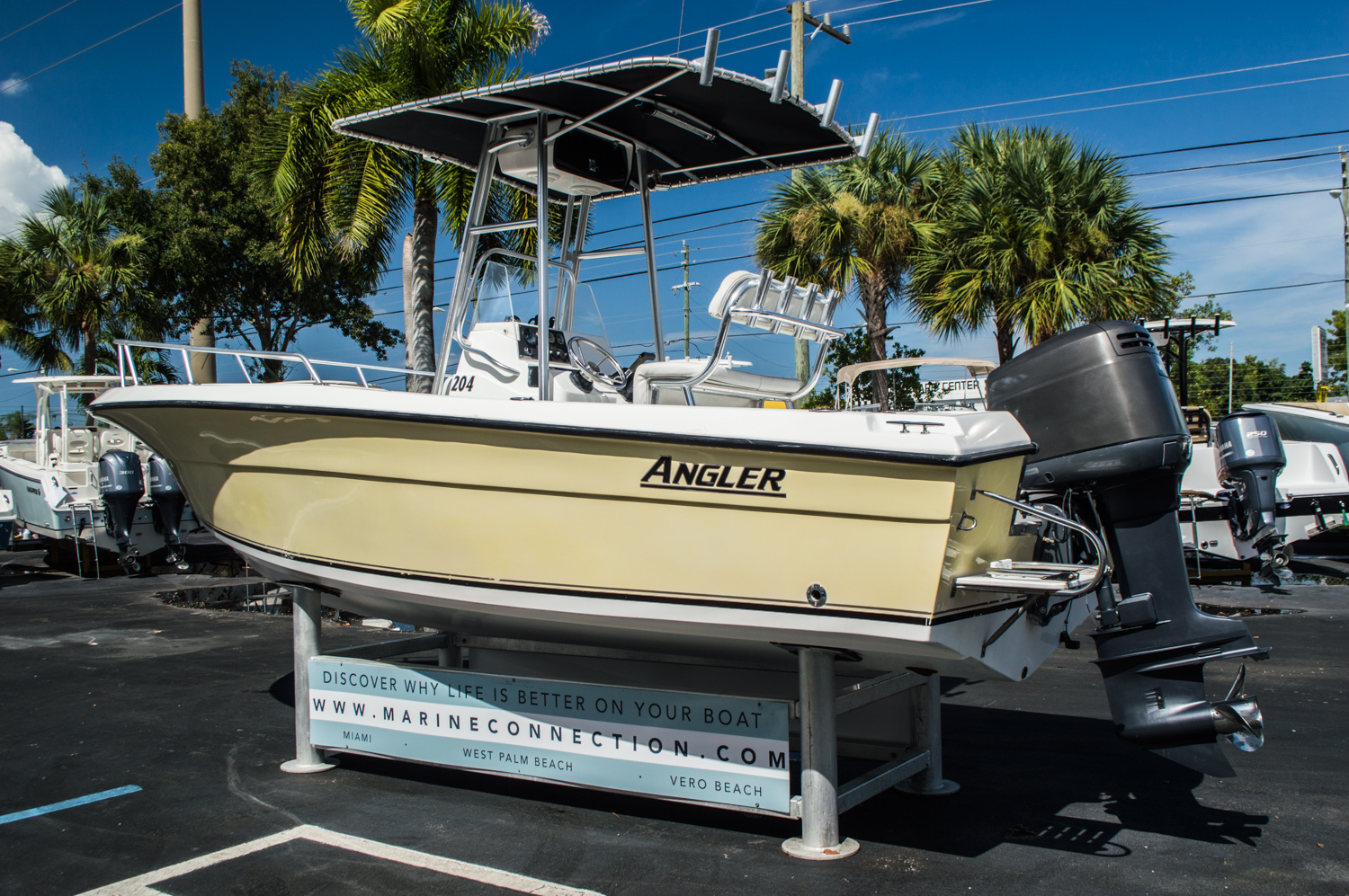 Thumbnail 5 for Used 2002 Angler 204 CC Center Console boat for sale in West Palm Beach, FL