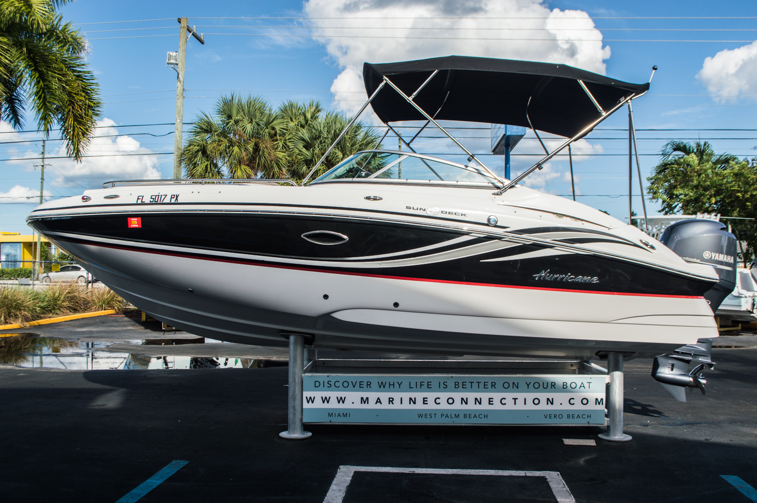 Used 2014 hurricane sundeck sd 2200 dc ob boat for sale in for Hurricane sundeck for sale