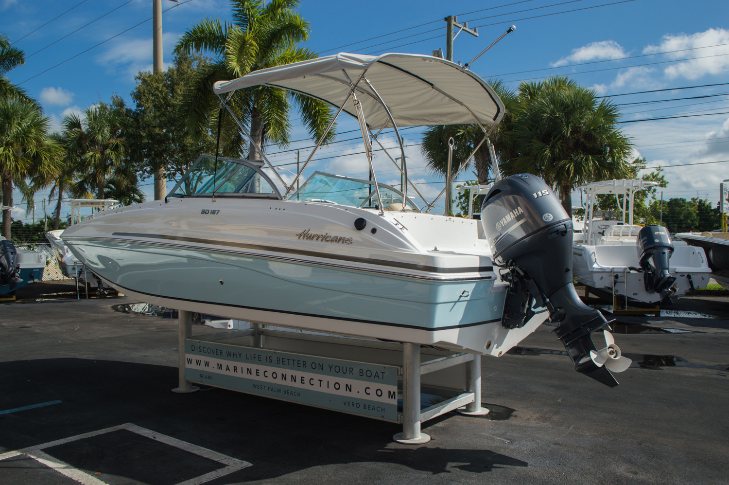 Thumbnail 5 for New 2016 Hurricane SunDeck SD 187 OB boat for sale in West Palm Beach, FL