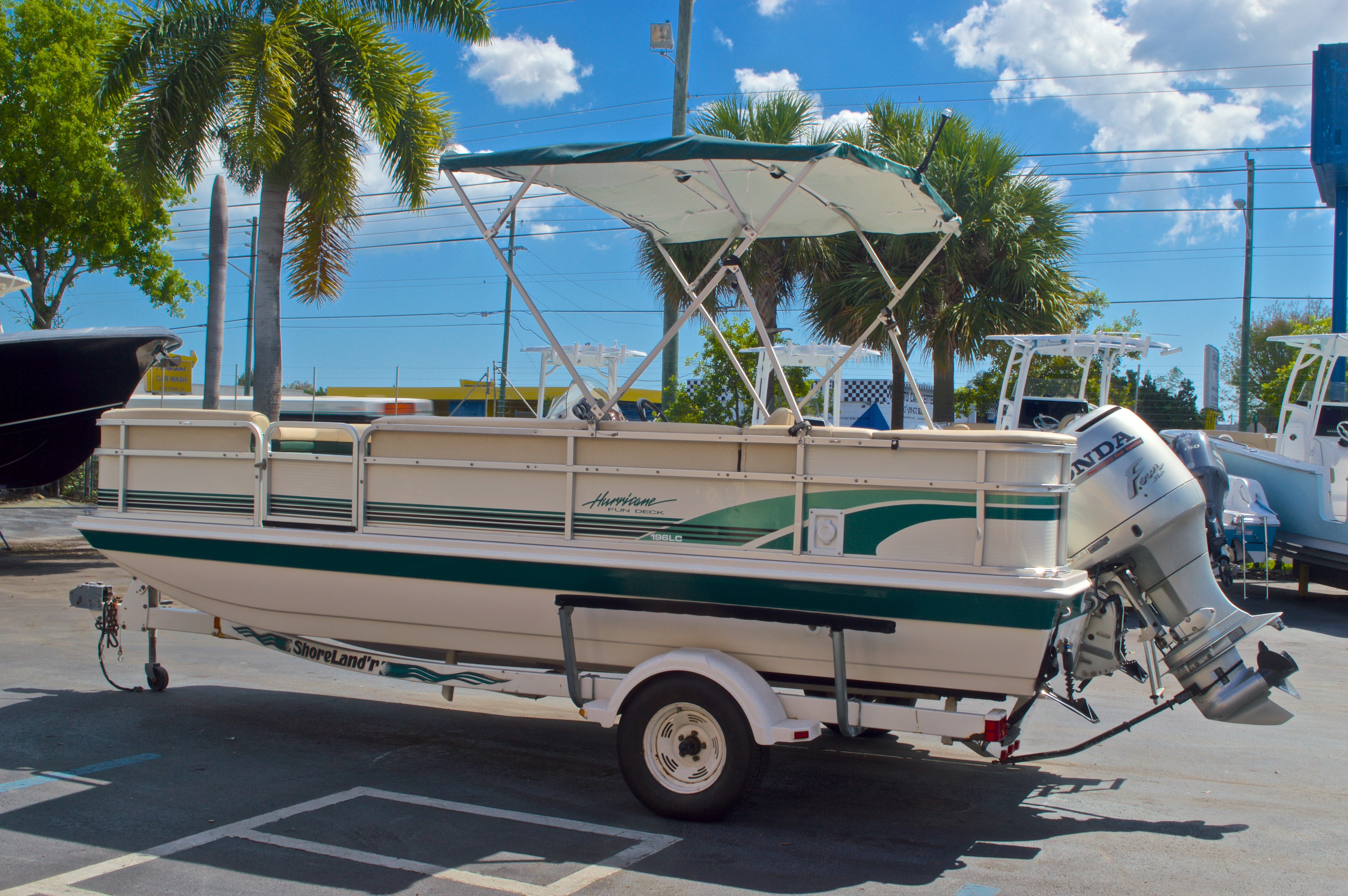 Thumbnail 5 for Used 1997 Hurricane Fun Deck 196LC boat for sale in West Palm Beach, FL