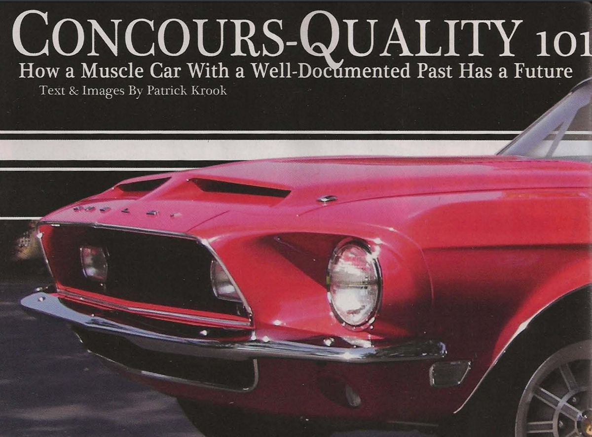 Concours-Quality 101, What makes 1968 Shelby GT500KR Convertible ...