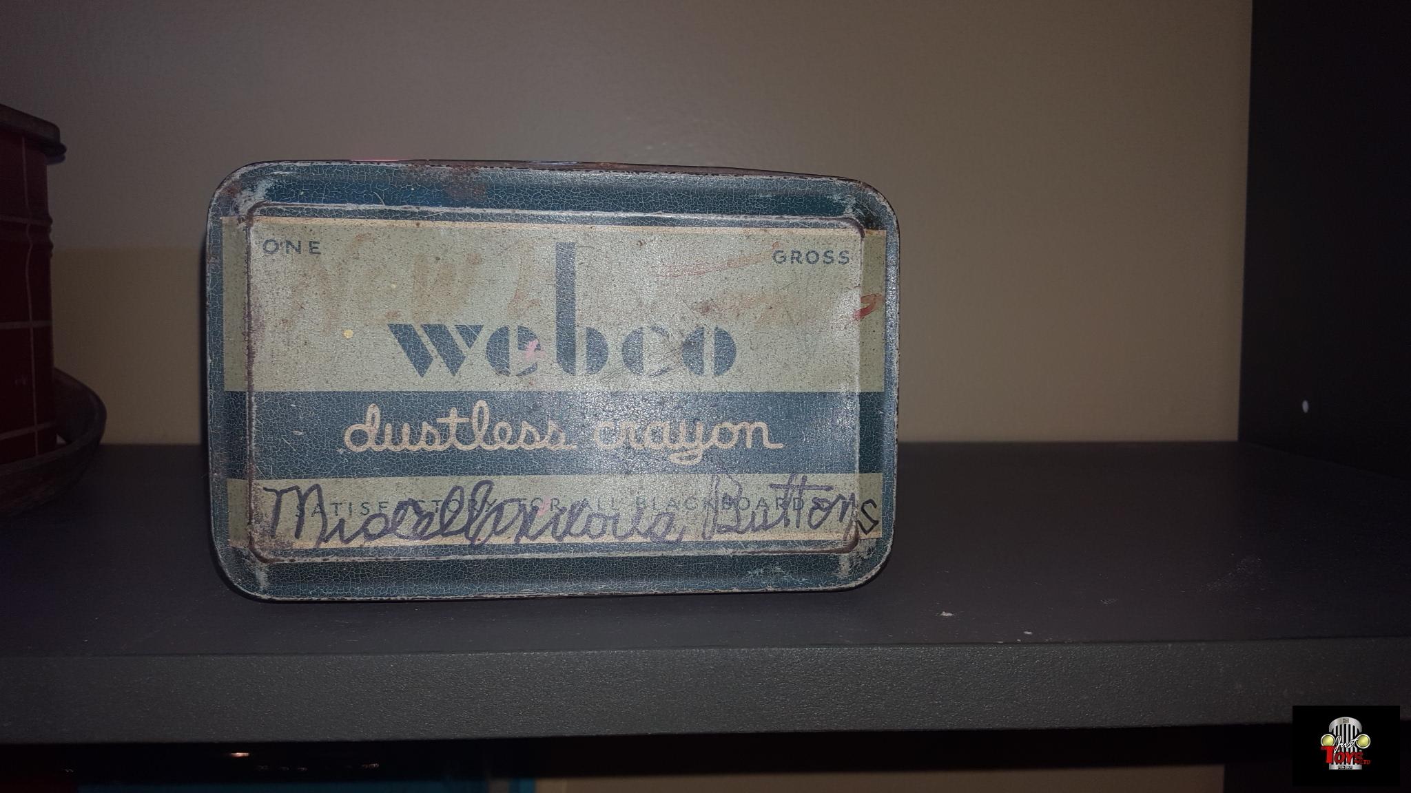 Webco Crayon Tin