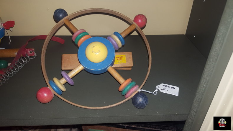 Wood Round Crib Toy