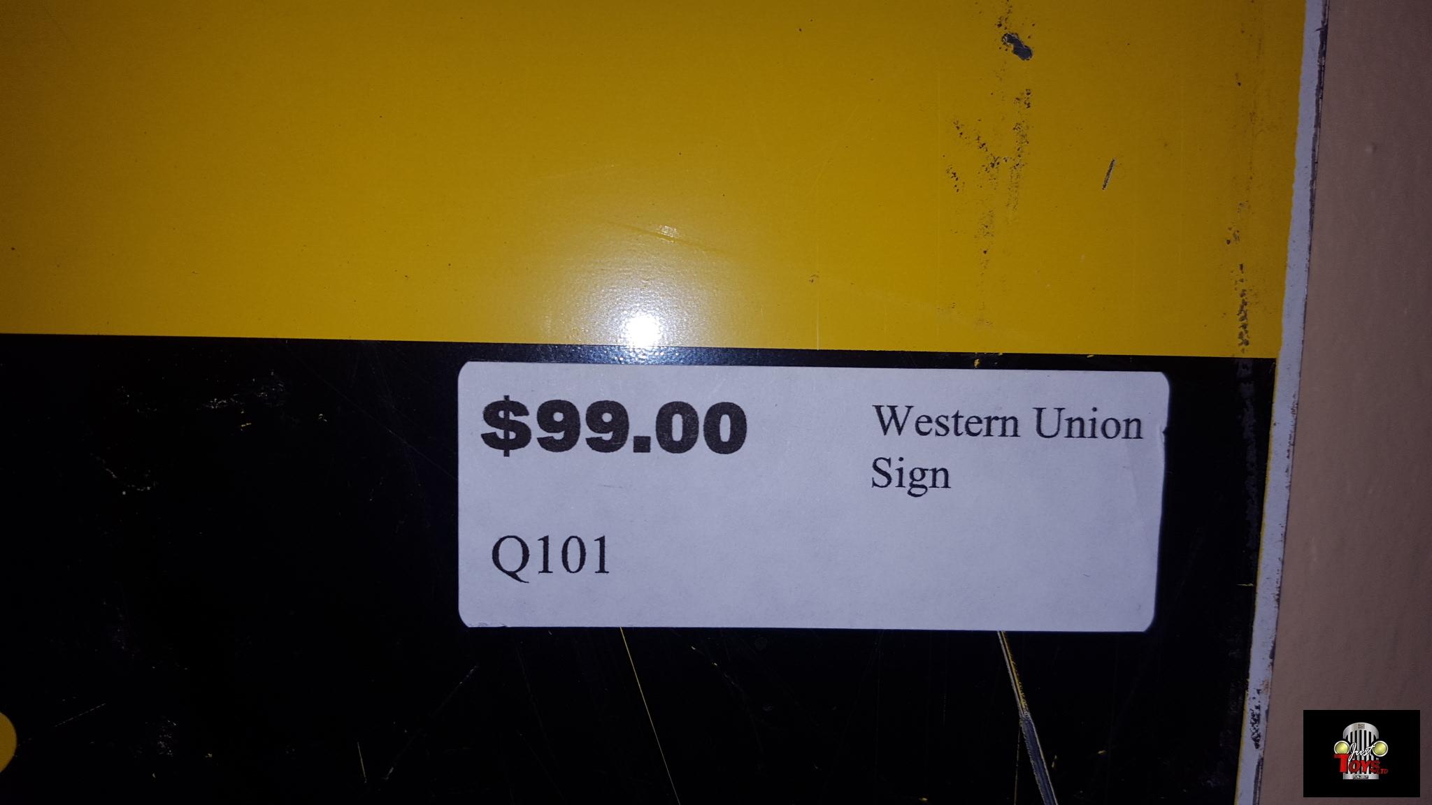 Western Union Sign