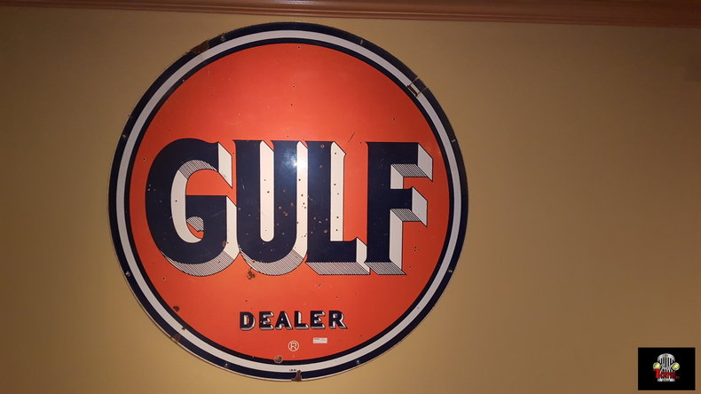 Gulf Oil Porcelain Sign