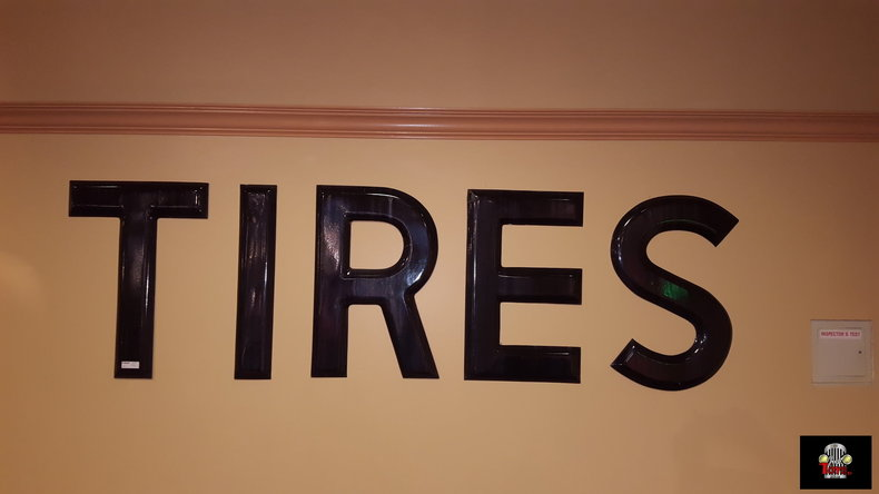 Large Tire Letters Porcelain