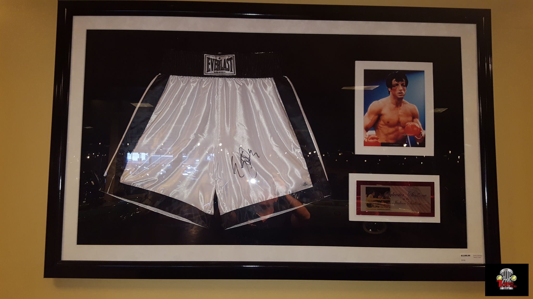 Autographed Rocky Boxing Shorts Framed