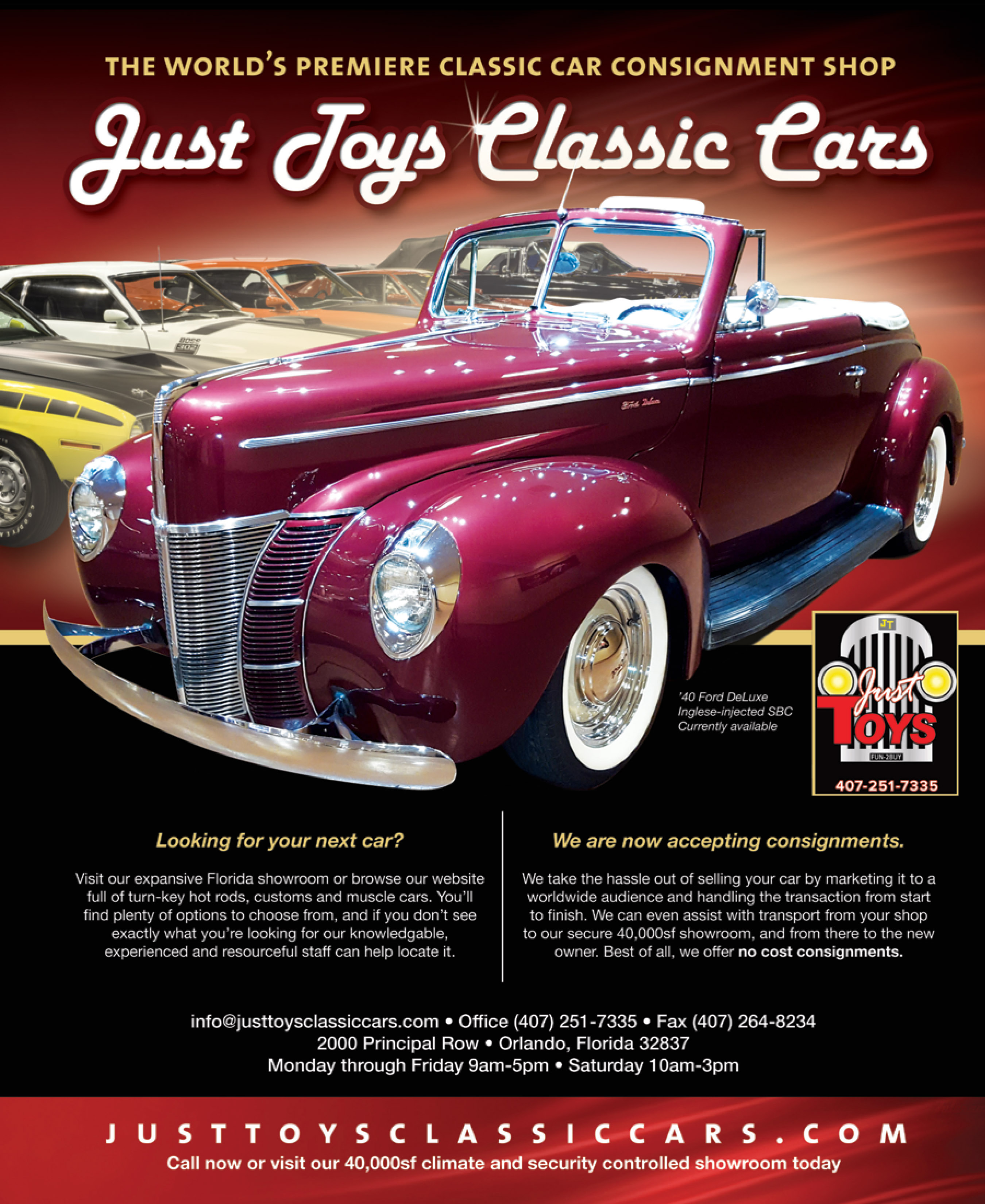 Upcoming Events | Just Toys Classic Cars