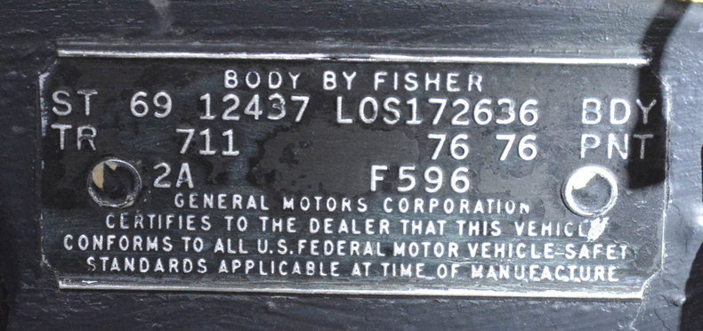 1969 Chevrolet Camaro Image 22