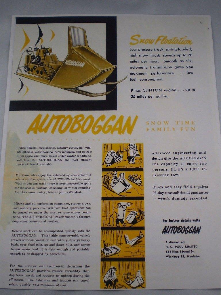 1960 Autoboggan W-9E Image 6