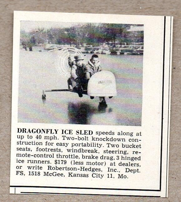 1957 Dragonfly Ice Sled Image 4