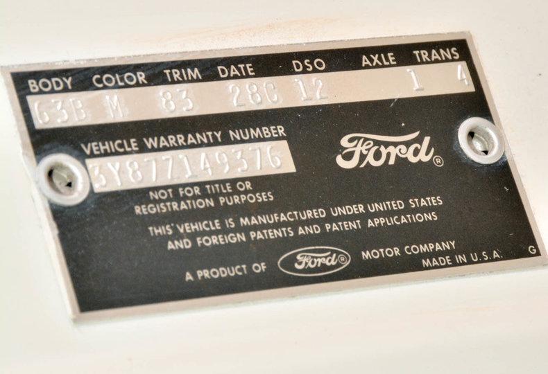 1963 Ford Thunderbird Image 51