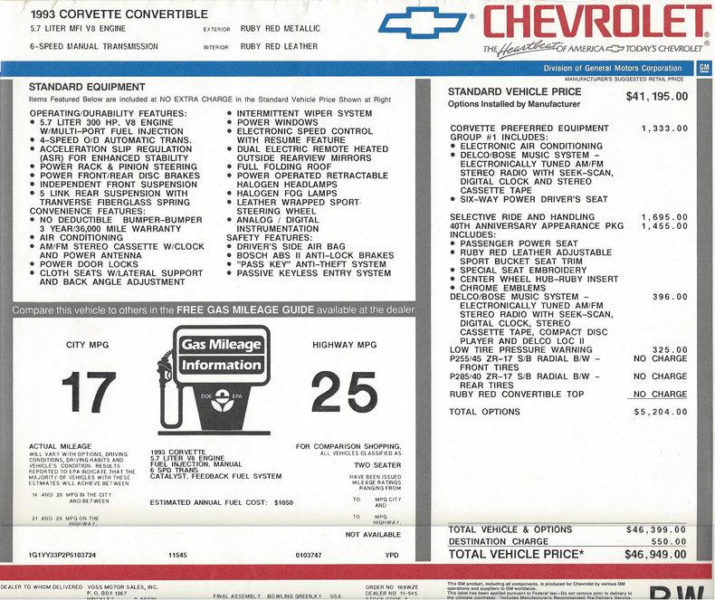 1993 Chevrolet Corvette Image 8