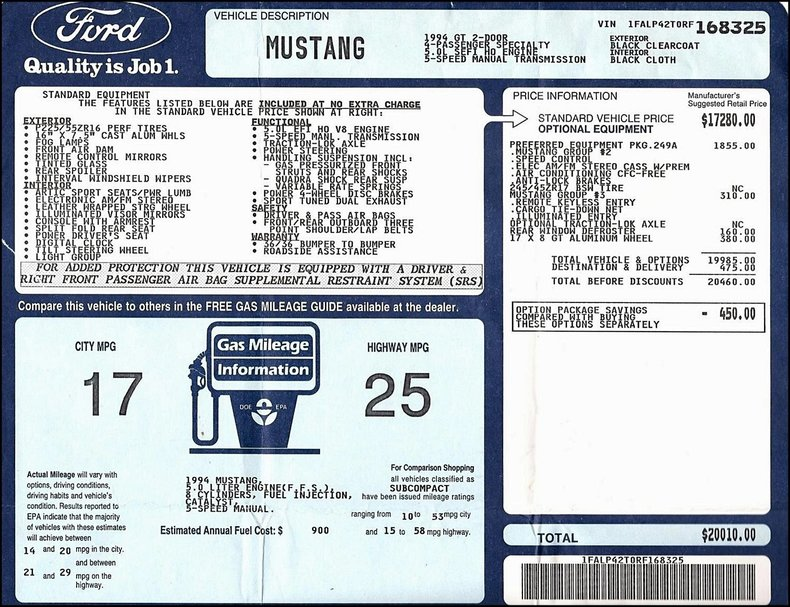 1994 Ford Mustang Image 71