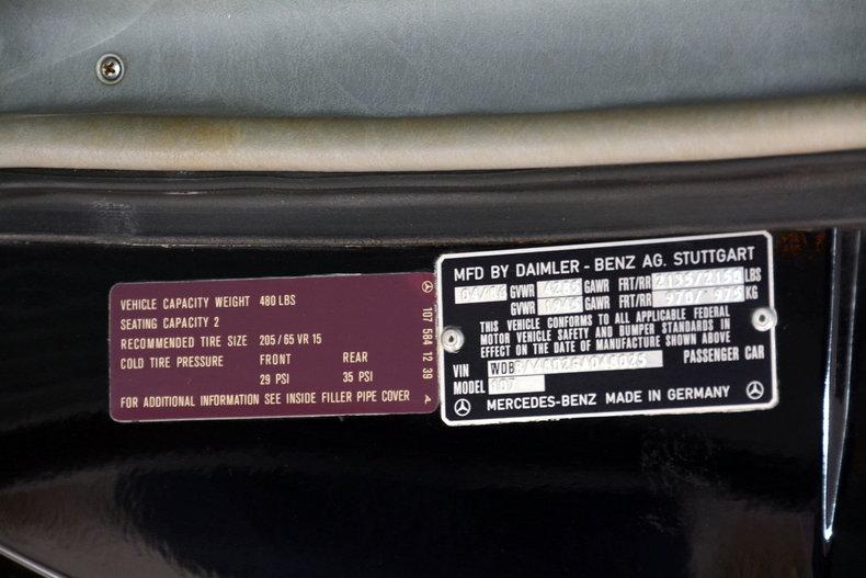 1986 Mercedes-Benz 560SL Image 87