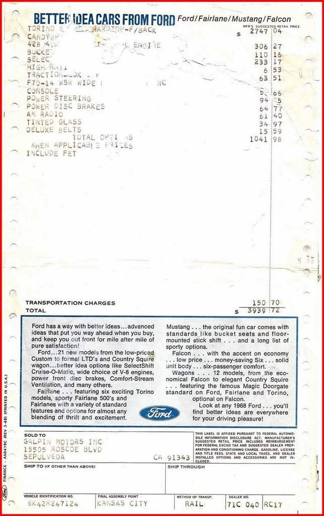 1968 Ford Torino Image 94