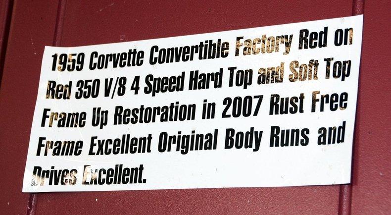 1959 Chevrolet Corvette Image 91