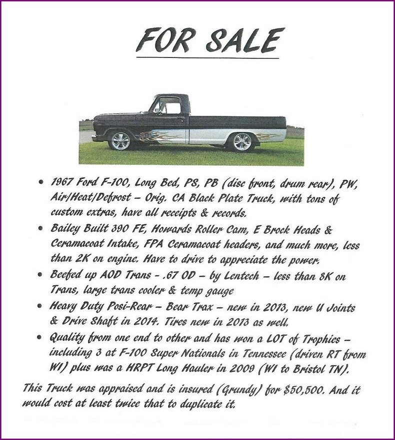 1967 Ford F100 Image 108