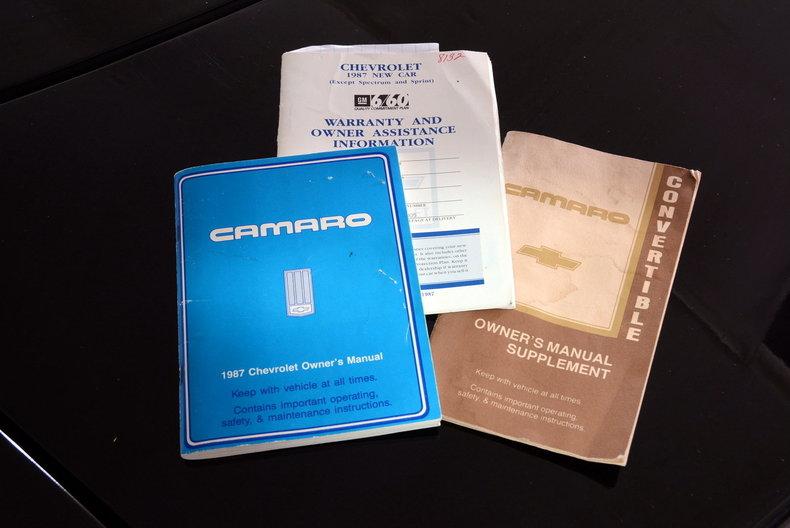 1987 Chevrolet Camaro Image 48