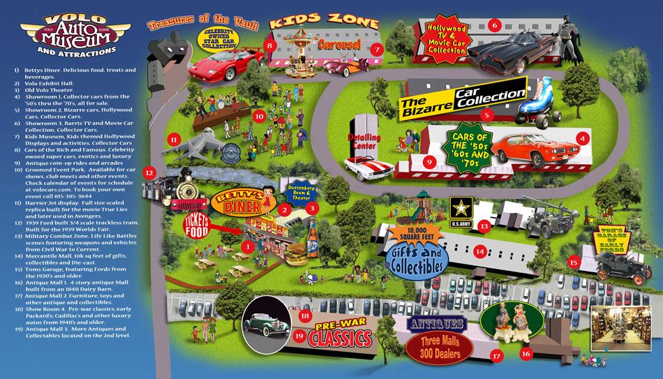 Volo Auto Museum Map