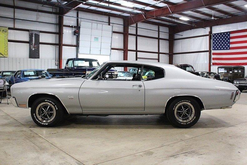 1970 Chevrolet Chevelle 326 Miles Silver Coupe 454cid V8