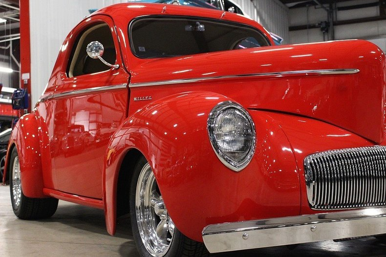 1941 Willys Coupe --: 1941 Willys Coupe  3901 Miles Red Coupe 383 V8 Automatic