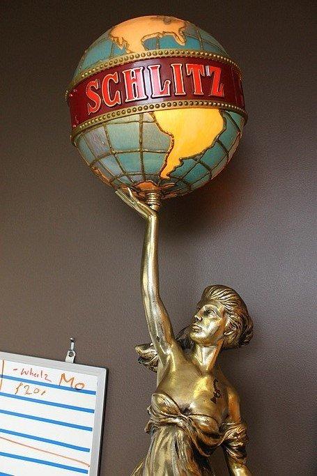 u0026quot schlitz lady lamp u0026quot