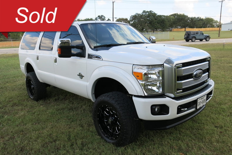 2015 Ford F250 Platinum Excursion