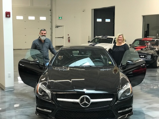 Rick and Jacqueline with their SL550