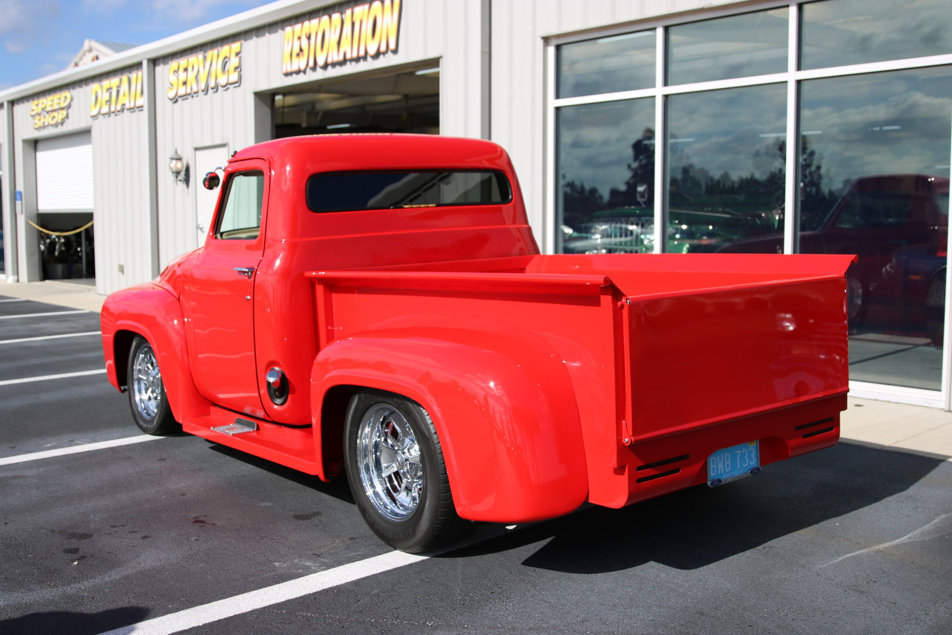 1955 Ford F100 Burnyzz American Classic Horse Power Red