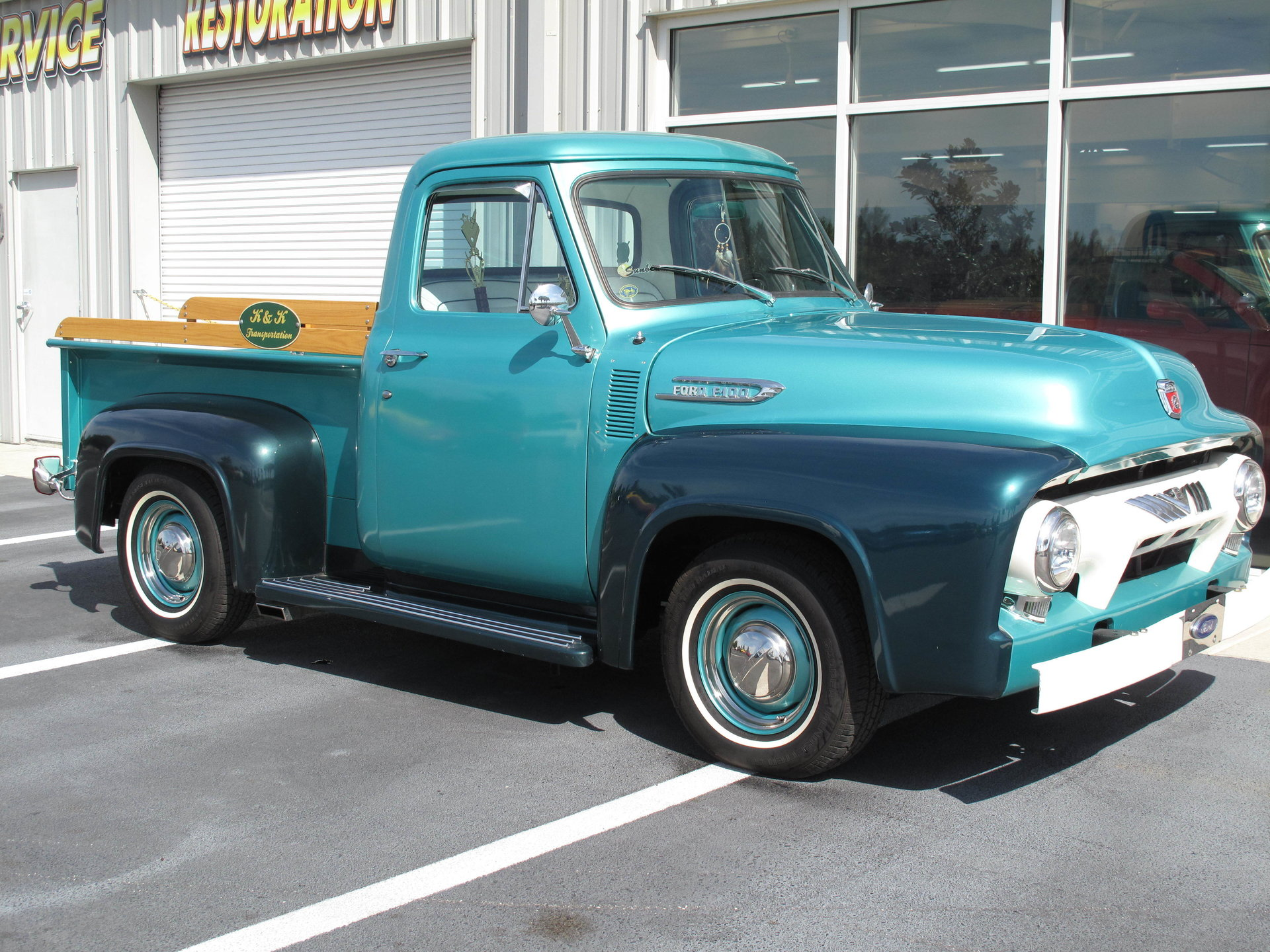 1954 Ford F100 Burnyzz American Classic Horse Power 1955 Side