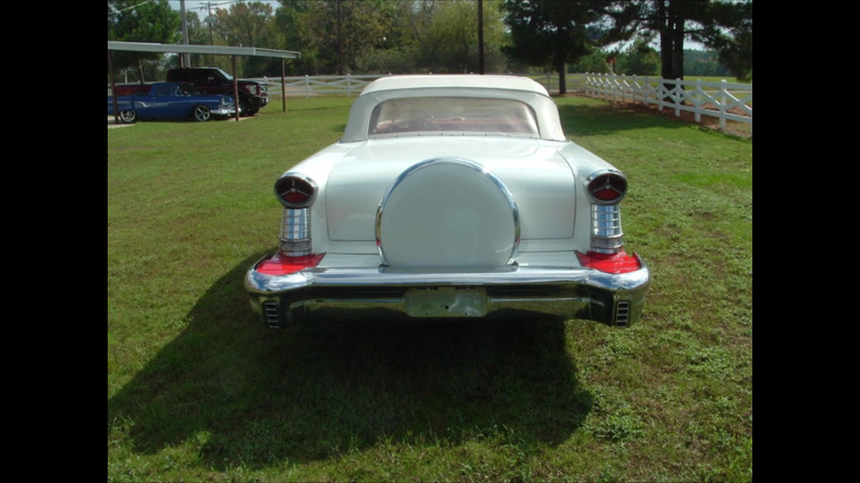 1957 Oldsmobile 98 conv White red int