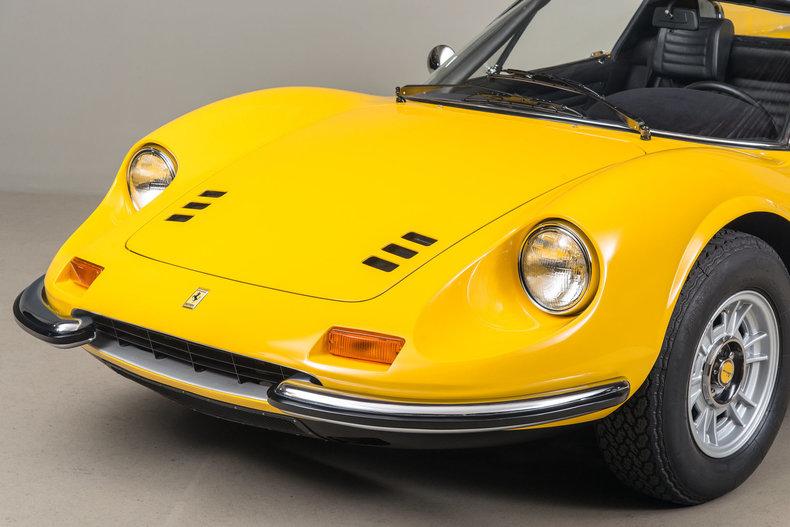 1972 Ferrari Dino 246 GTS , YELLOW, VIN 04038, MILEAGE 11747