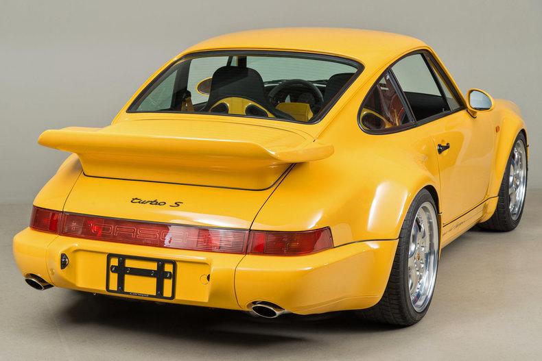 1993 Porsche 964 Turbo S Leichtbau, SPEED YELLOW, VIN WP0ZZZ96ZPS479036, MILEAGE 2258